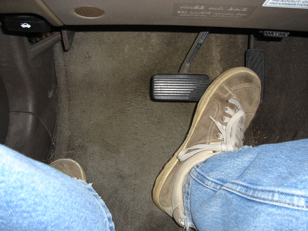 how to use the gas pedal properly