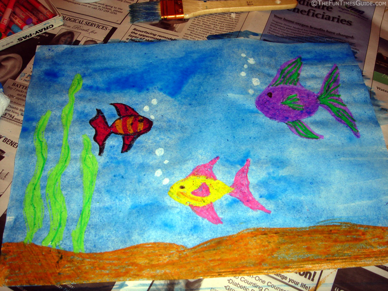 How to make 39 magic 39 underwater paintings the cardmaking for Creating a mural