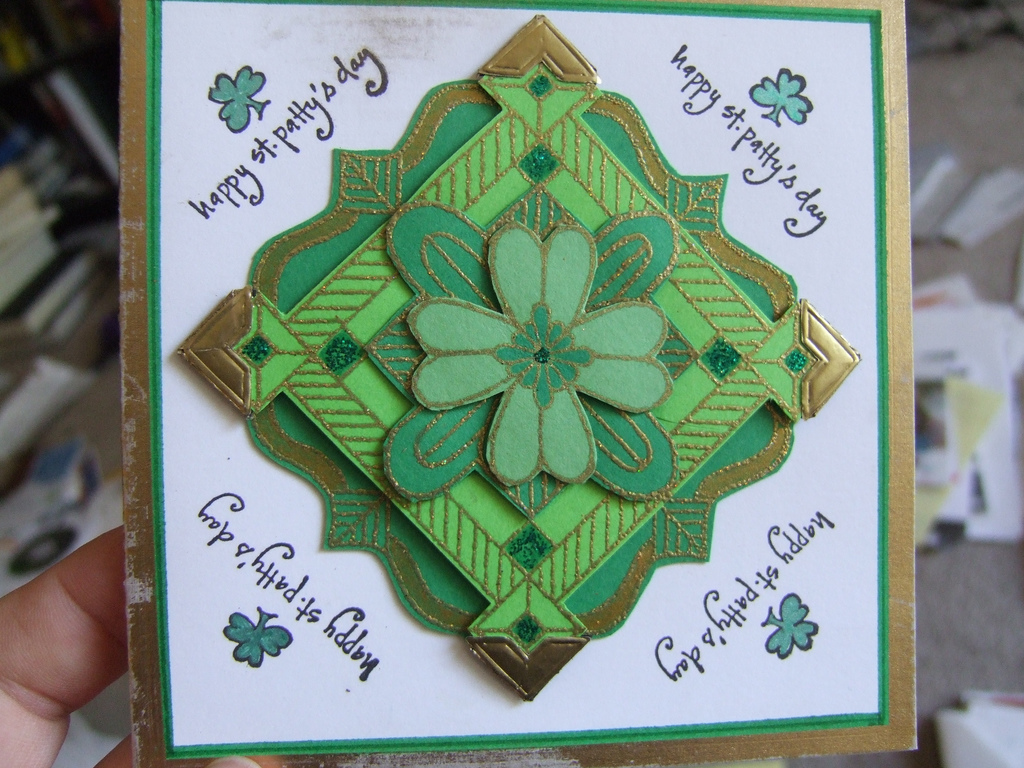 St patricks day preschool crafts - Handmade St Patricks Day Card By Joebeone Jpg
