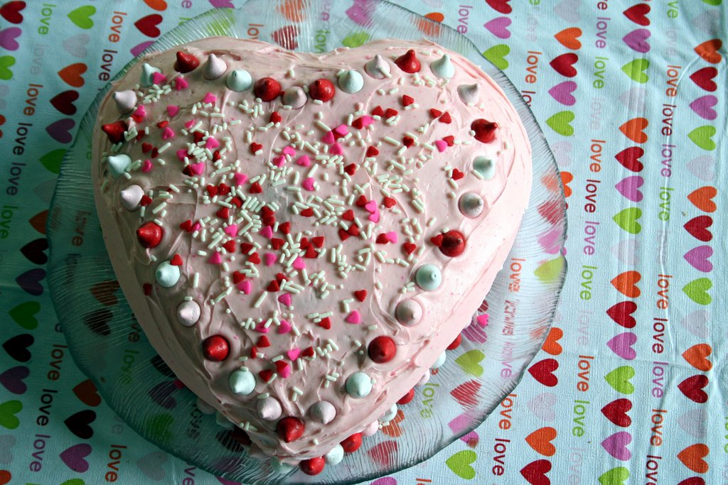 a heart-shaped cake pan.
