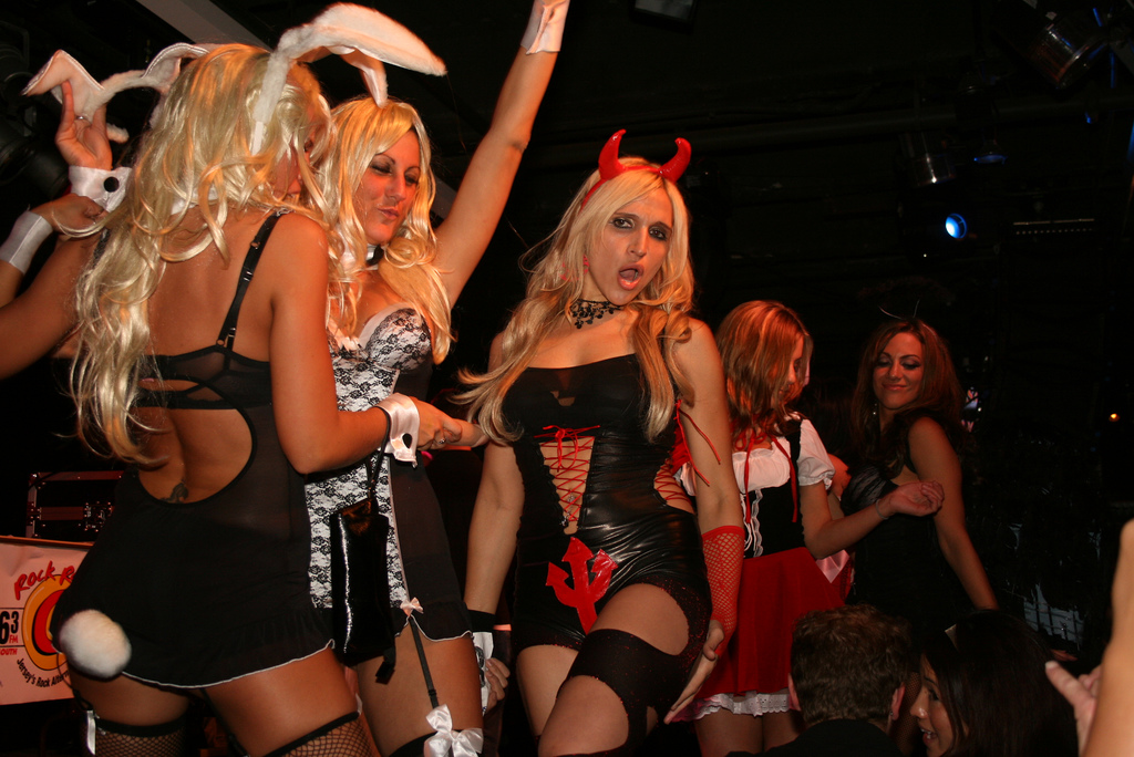 Adult halloween costume parties