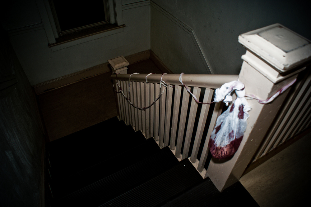 simple halloween decorations on stairs by jessee757jpg