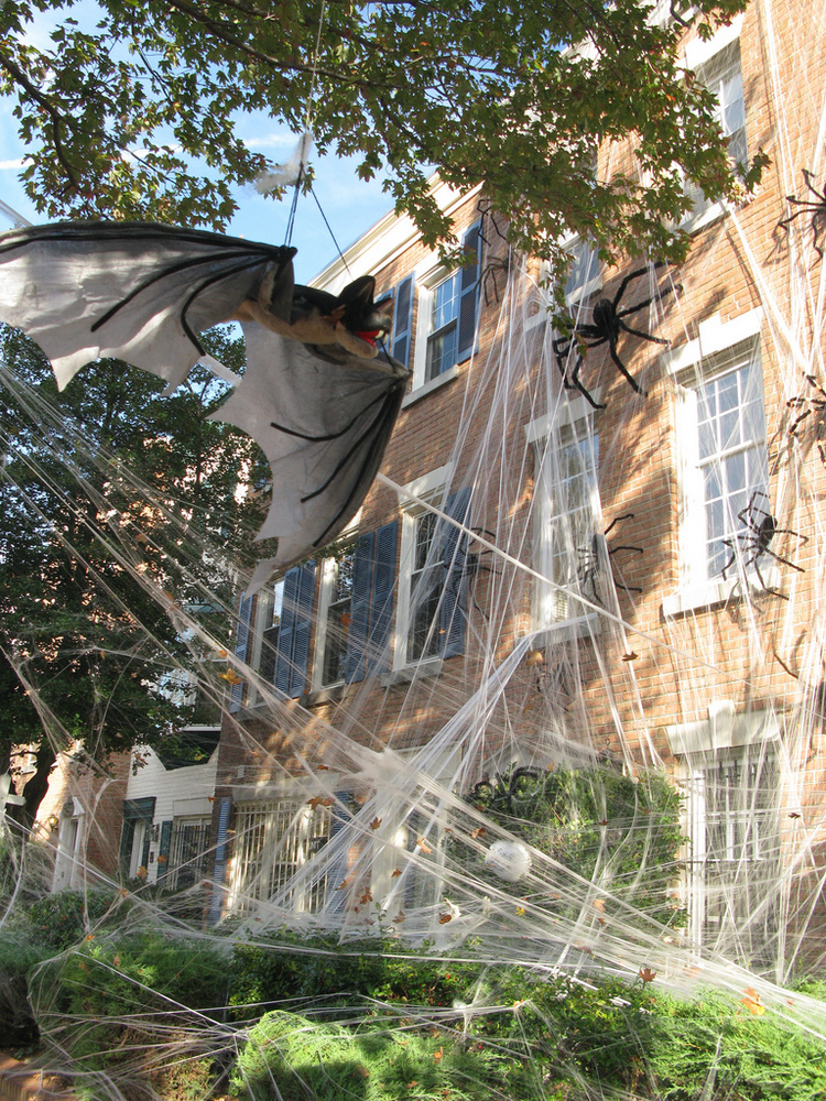 spider webs halloween outdoor decorations by marabuchijpg