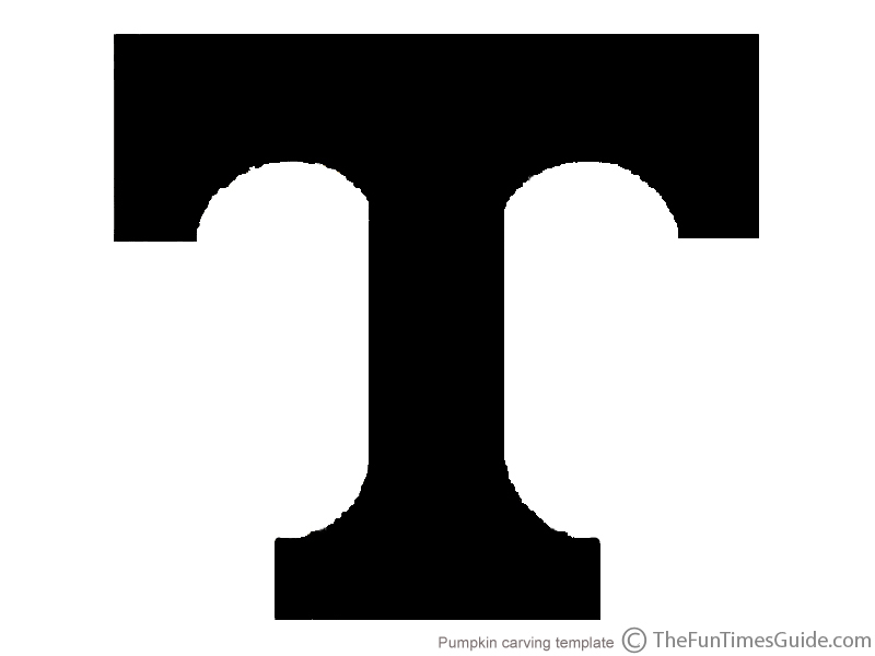 UT Pumpkin Template For University Of Tennessee Fans | The Franklin ...