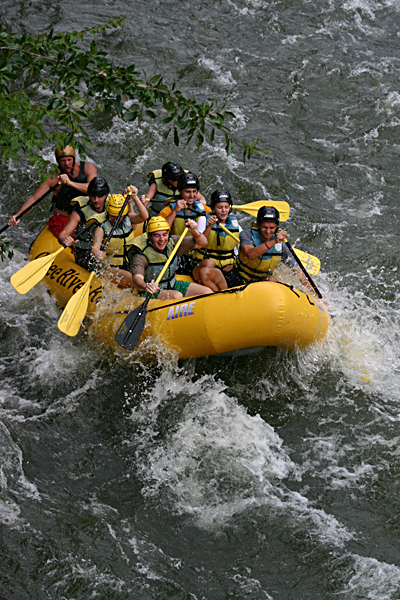 Whitewater rafting along the Ocoee River.