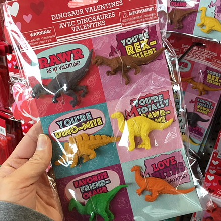 These dinosaur Valentine cards are great for kids to give to their teachers!