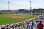 This is actually the Spring Training baseball park for the Chicago Cubs -- Hohokum Park in Mesa, Arizona.