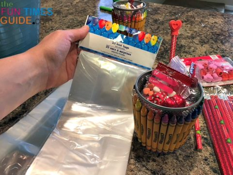 These clear cellophane loot bags are perfect for making DIY gift baskets.