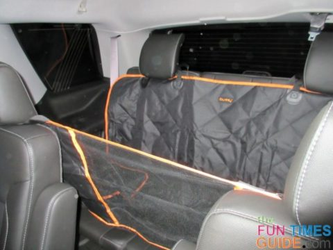 This is the iBuddy dog car hammock over my 3RD row bench seat!