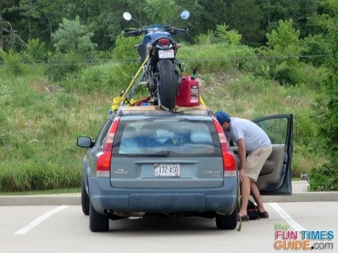 driving-motorcycle-on-car-roof