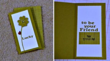 Handmade St. Patrick's Day Cards: Here's A Very Lucky Card You Can Make For Friends!