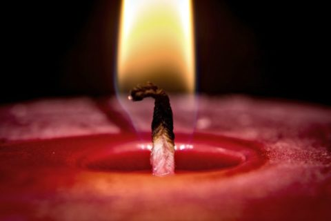 See how to trim a candle wick to the proper height.