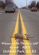 This funny roadkill photo has made its way around the Internet a few times.