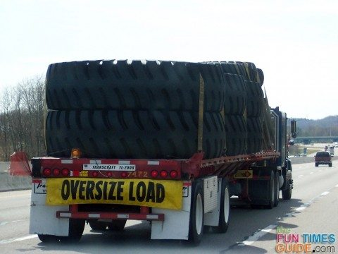 wide load - extra large truck tires