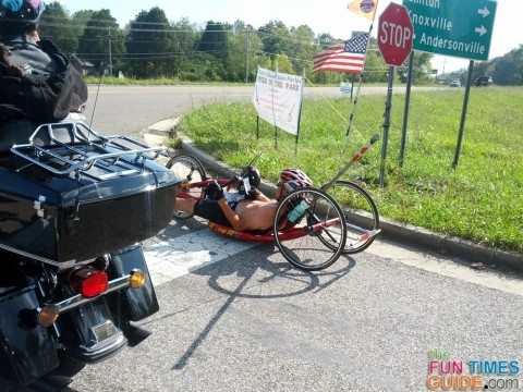 reclining-bike-on-the-road