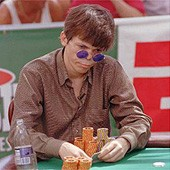 Stu Ungar playing poker.